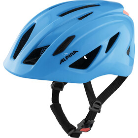 Alpina Pico Flash Helm Kinder neon blue gloss